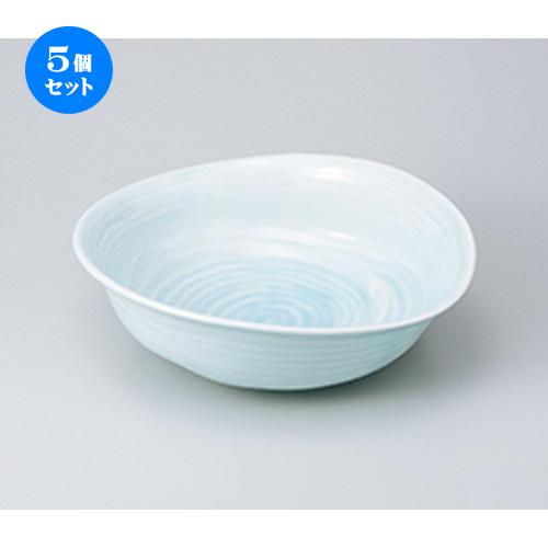 5個セット☆ 盛込鉢 ☆ 青白磁変形盛鉢 [ 31.5 x 28 x 9.4cm ] 【 料亭 旅館 和食器 飲食店 業務用 】