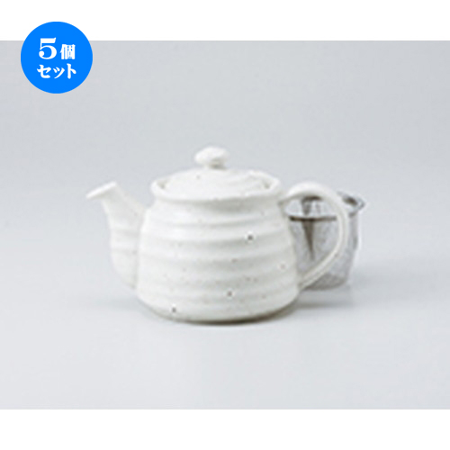 5個セット☆ ポット ☆ 白釉ポット [ 10.5 x 11cm ・ 420cc ] 【 喫茶店 カフェ 洋食器 飲食店 業務用 】