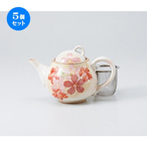 5個セット☆ ポット ☆ 春うららポット(アミ付) [ 11 x 11cm ・ 500cc ] 【 喫茶店 カフェ 洋食器 飲食店 業務用 】