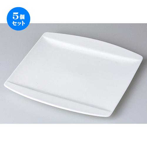 5個セット☆ モダンスタイル ☆ Axia 25.5cm正角皿 [ 25.5 x 25.5 x 1.7cm ] 【 レストラン ホテル カフェ 洋食器 飲食店 業務用 】