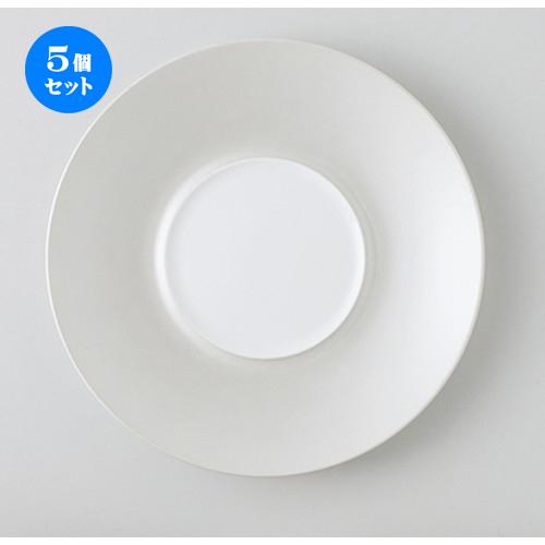 5個セット☆ モダンスタイル ☆ RR24cmプレート(SV) [ 24.0 x 3.0cm ・ 内径10.4cm ] 【 レストラン ホテル カフェ 洋食器 飲食店 業務用 】