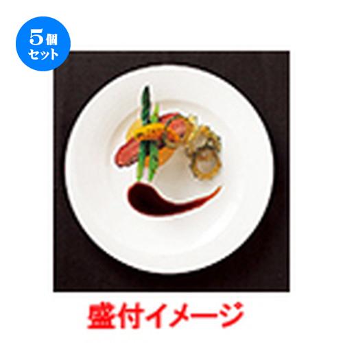5個セット☆ モダンスタイル ☆ courant 10″プレート [ φ25.3 x h 2.0cm ] 【 レストラン ホテル カフェ 洋食器 飲食店 業務用 】