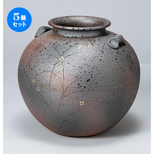 5個セット☆ 花瓶 ☆ 10号金彩小花(丸) [ 31 x 28.5cm ] 【 インテリア 置物 料亭 旅館 業務用 】