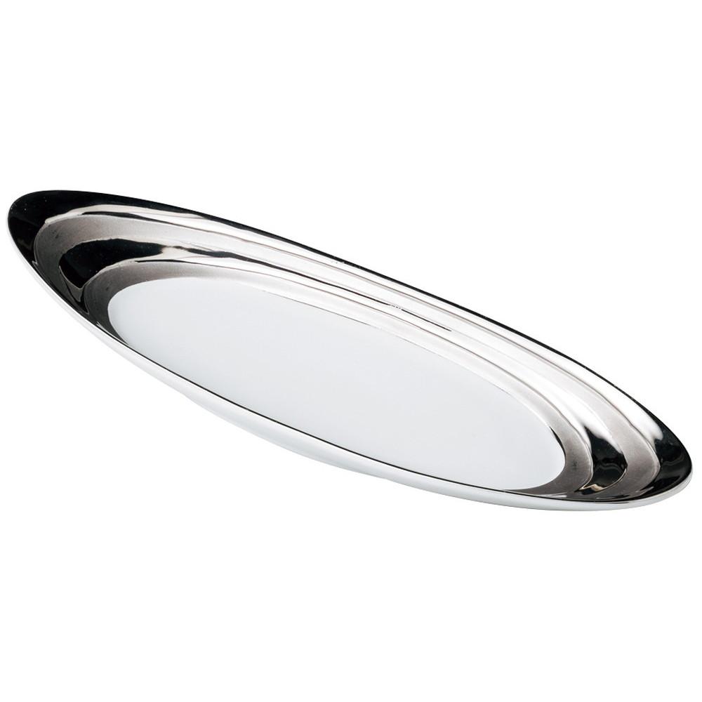 プラチナ楕円大皿 [ 38 x 13.3 x 4cm ] 【 楕円プレート 】 | レストラン ホテル 飲食店 業務用 おしゃれ