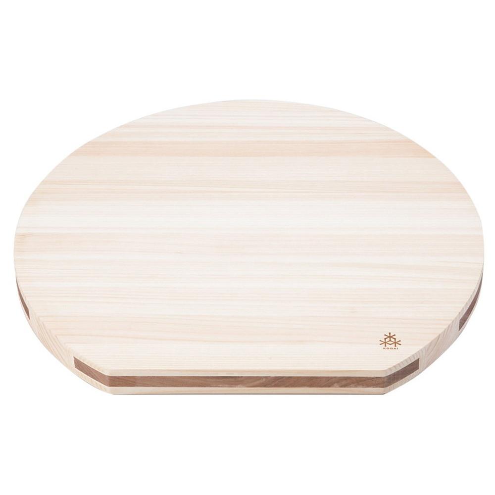 (木)ひのき 溝付D型まな板36cm [ 36 x 33 x 2.5cm ] 【まな板 】 | 旅館 料亭 和食器 飲食店 業務用