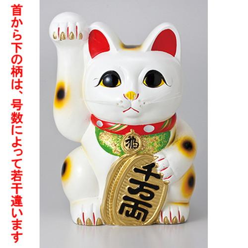 常滑焼招き猫 白手長小判猫10号(右手) [ 24 x 25 x 35.5cm ] 【 縁起物 置物 インテリア かわいい 日本土産 】