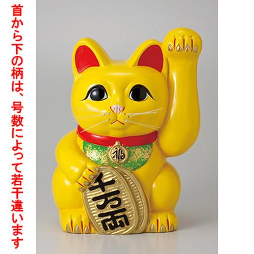 常滑焼招き猫 風水手長小判猫13号(左手) [ 28 x 30 x 40.7cm ] 【 縁起物 置物 インテリア かわいい 日本土産 】