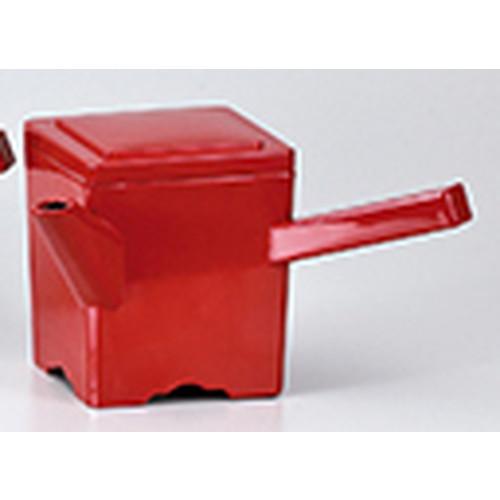 越前漆器 角湯筒 朱 [ 220 x 108 x h 127mm ] 【 料亭 旅館 麺 和食器 飲食店 業務用 】