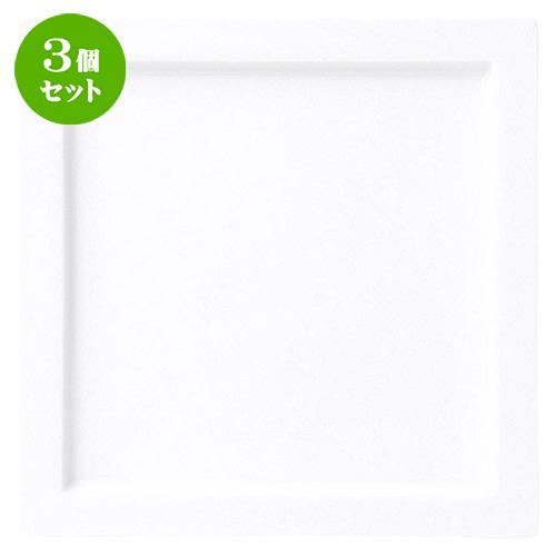 3個セット☆ 角皿 ☆ グランス 25cm スクエアープレート [ D 25 x H 1.7cm ] 【 飲食店 レストラン ホテル カフェ 洋食器 業務用 白 ホワイト 】