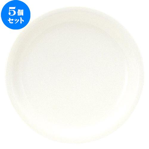5個セット☆ 大皿 ☆ ボーンセラム 25cm ディナー皿 [ D 25 x H 2.5cm ] 【 飲食店 レストラン ホテル カフェ 洋食器 業務用 白 ホワイト シンプル 】