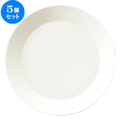 5個セット☆ 大皿 ☆ クレーマ 31.5cm 丸皿 [ D 31.5 x H 3.4cm ] 【 飲食店 レストラン ホテル カフェ 洋食器 業務用 白 ホワイト 】