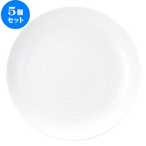 5個セット☆ 大皿 ☆ えでぃー 25cm 丸皿 [ D 25 x H 2.8cm ] 【 飲食店 レストラン ホテル カフェ 洋食器 業務用 おしゃれ 白 ホワイト シンプル 】