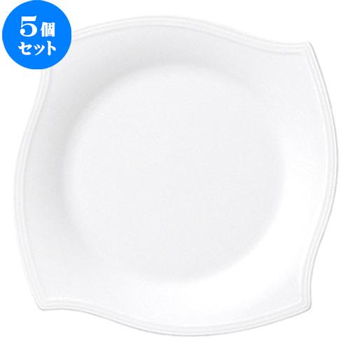 5個セット☆ 中皿 ☆ パスチャー 18cm プレート [ D 18.2 x H 2.5cm ] 【 飲食店 レストラン ホテル カフェ 洋食器 業務用 白 ホワイト 】