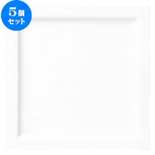 5個セット☆ 角皿 ☆ グランス 25cm スクエアープレート [ D 25 x H 1.7cm ] 【 飲食店 レストラン ホテル カフェ 洋食器 業務用 白 ホワイト 】