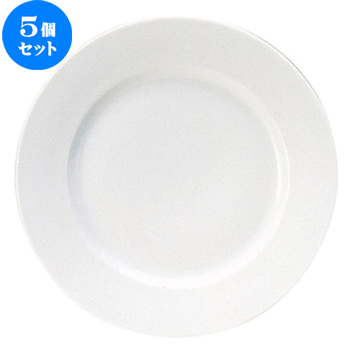 5個セット ☆ 大皿 ☆ エルキュール 25.5cm リムプレート [ D 25.6 x H 2.7cm ] 【 飲食店 レストラン ホテル カフェ 洋食器 業務用 白 ホワイト 】