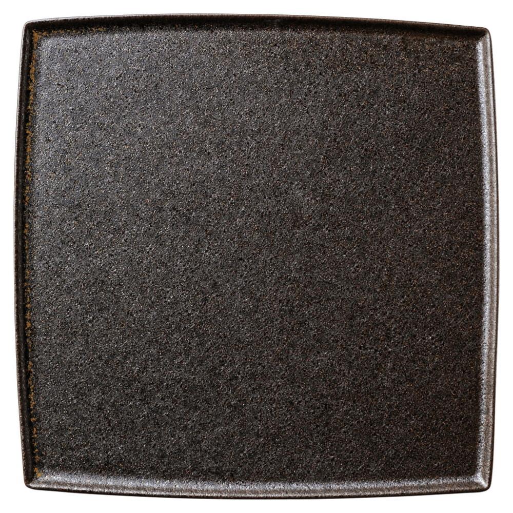フィノ クリスタルブラウン 25.5cmスクエアープレート [ D25.5 x H1cm ] 【 角皿 】 | 飲食店 ホテル レストラン 和食 洋食 業務用