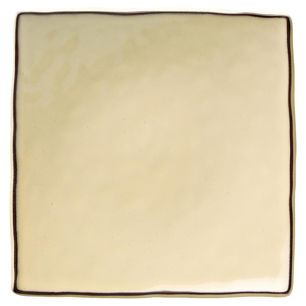 ラフェルム シナモンベージュ 25cmスクエアープレート [ D25 x H4.3cm ] 【 角皿 】 | 飲食店 ホテル レストラン 洋食 カフェ 業務用