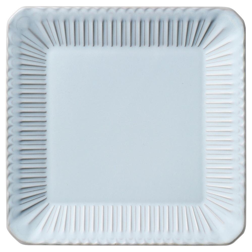 ストーリア シャビーブルー 24.5cmスクエアープレート [ D24.5 x H2.8cm ] 【 角皿 】 | 飲食店 ホテル レストラン 洋食 カフェ 業務用