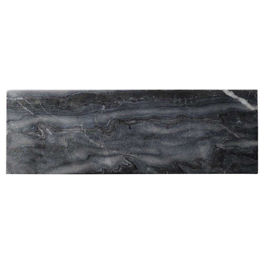 天然石 グレーマーブル 30cmナロープレート [ L30 x S10 x H1cm ] 【 長角皿 】 | 飲食店 ホテル レストラン 洋食 業務用