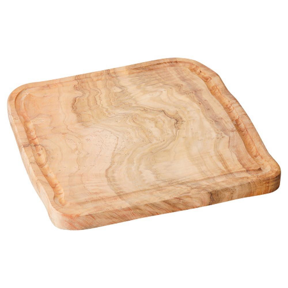 オリーブ 25cmスクエアープレート [ D25 x H2cm ] 【 木製プレート 】 | 飲食店 カフェ 喫茶店 業務用 自宅用 贈り物