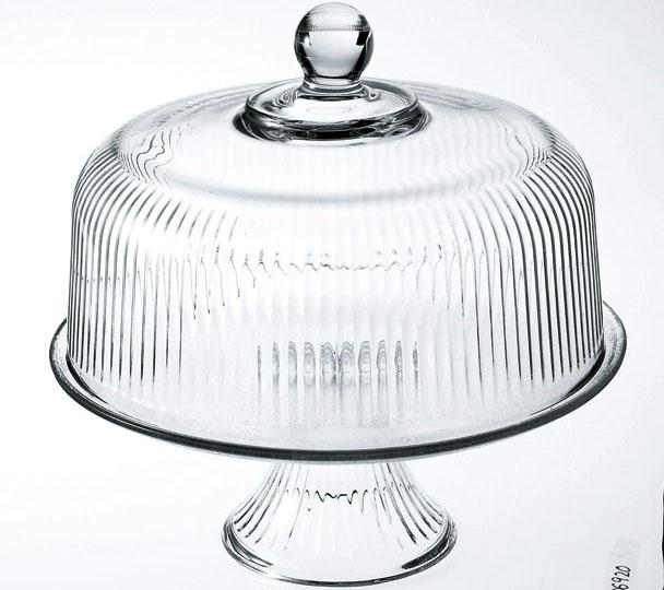 ガラス製品 モナコ ケーキドーム 86031 [D27.9 x 27.1ドームD26.3 x 16.5台D27.8 x 10.9cm] (1) USA 【料亭 旅館 和食器 飲食店 業務用】