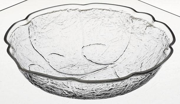 メラミン樹脂 リーフ ボールL (クリア) [D38.7 x 12.0 7570cc] (4) メキシコ/食洗機OK 【料亭 旅館 和食器 飲食店 業務用】