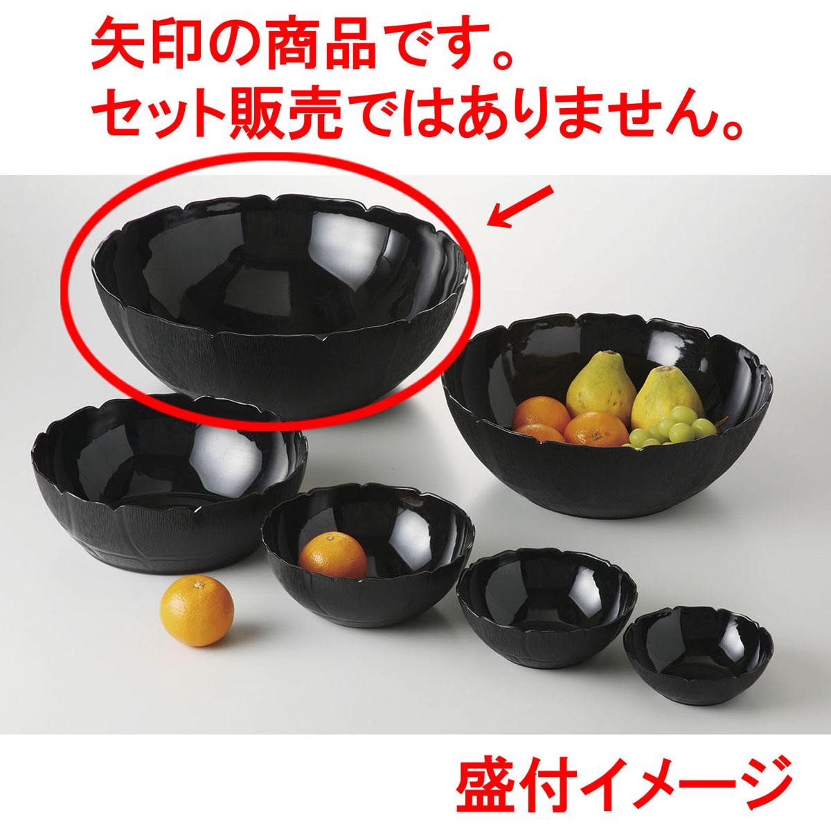 メラミン樹脂 ペタルミスト ボール 45.5 (ブラック) [D45.7 x 15.8 16230cc] (4) USA/食洗機OK 【料亭 旅館 和食器 飲食店 業務用】