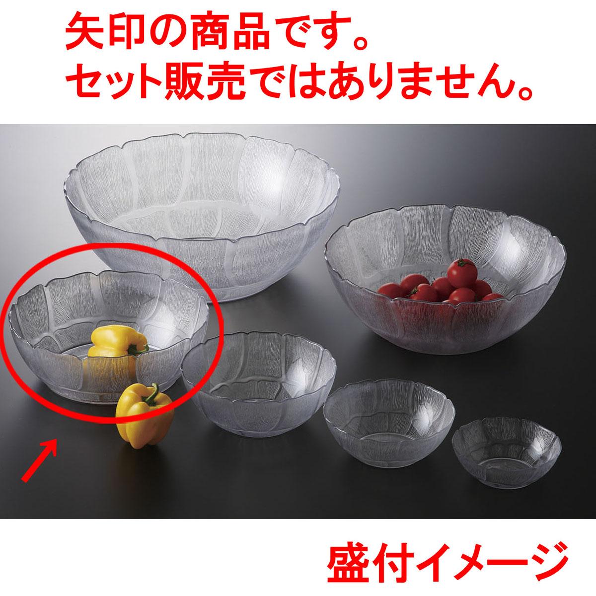 メラミン樹脂 ペタルミスト ボール 30 [(クリア) D30.3 x 10.6 5390cc] (4) USA/食洗機OK 【料亭 旅館 和食器 飲食店 業務用】