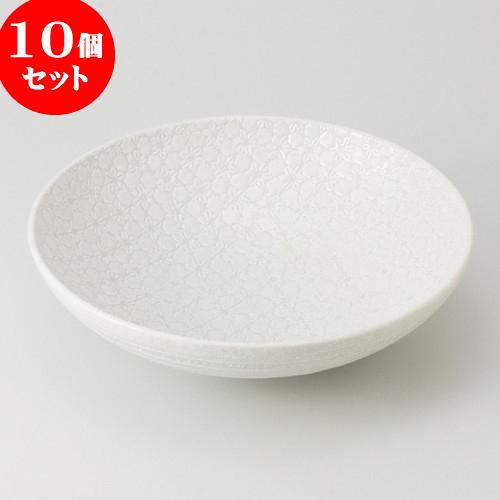 10個セット ☆ 盛鉢 ☆ 白結晶 盛鉢 [ 28.5 x 7.5cm 1200g ] 【 料亭 旅館 和食器 飲食店 業務用 】