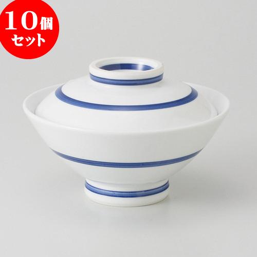 10個セット ☆ 茶碗 ☆ 一本線 のり茶 [ 14.5 x 9.4cm 470g ] 【 料亭 旅館 和食器 飲食店 業務用 】