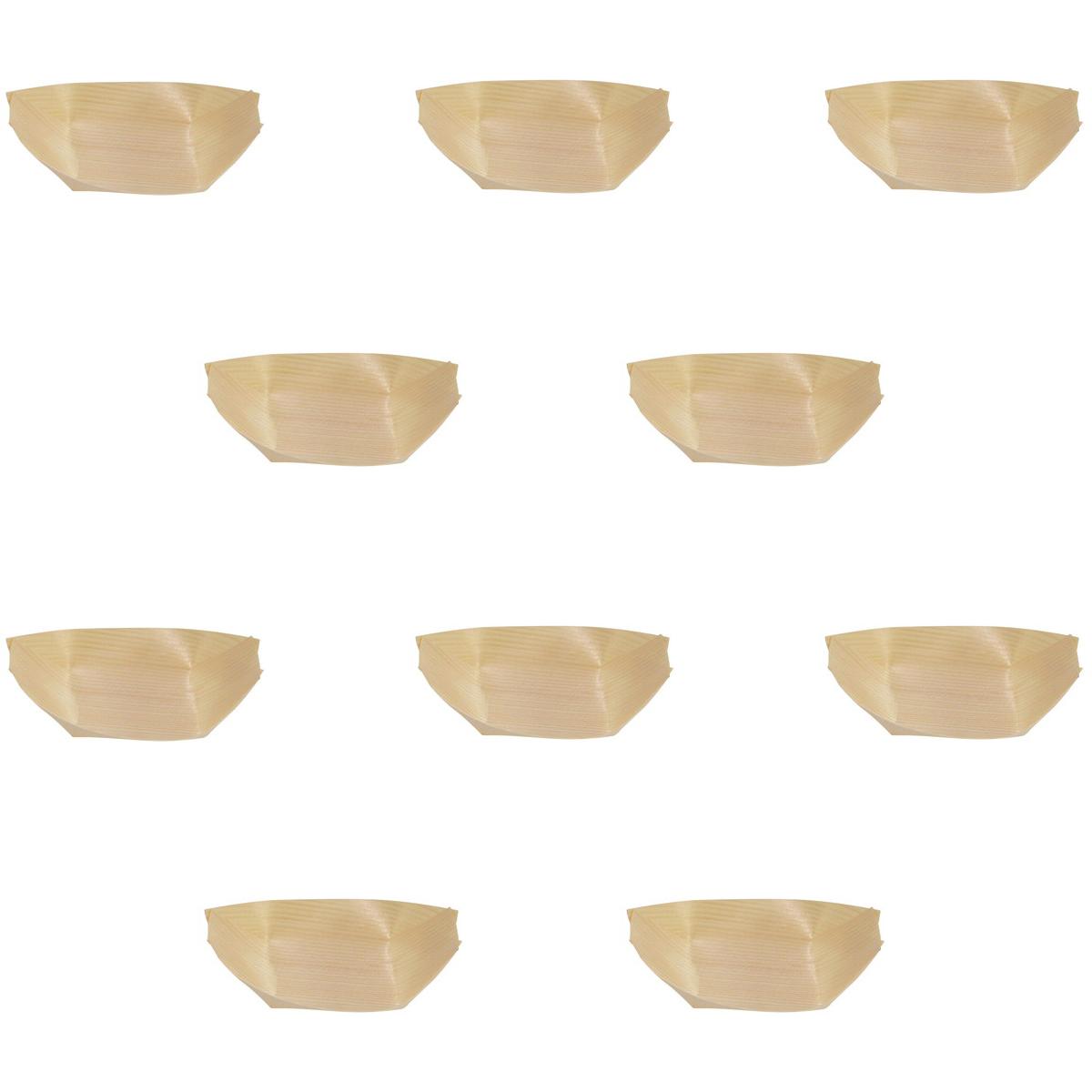 10個セット ☆ 割烹演出小物 ☆ 経木容器 舟皿(100枚入) 4.5寸 [ 約12 x 7 x 3.5cm ] 【 料亭 旅館 居酒屋 和食器 飲食店 業務用 】