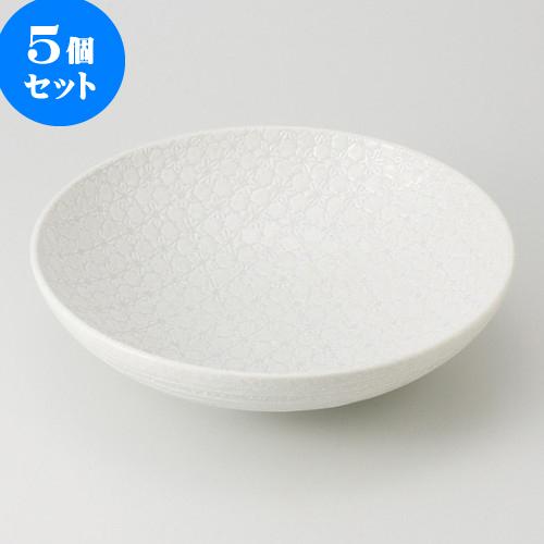 5個セット ☆ 盛鉢 ☆ 白結晶 盛鉢 [ 28.5 x 7.5cm 1200g ] 【 料亭 旅館 和食器 飲食店 業務用 】