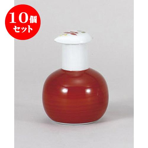10個セット 調味料入 有田焼赤巻スキット汁次(大) [210cc] 料亭 旅館 和食器 飲食店 業務用