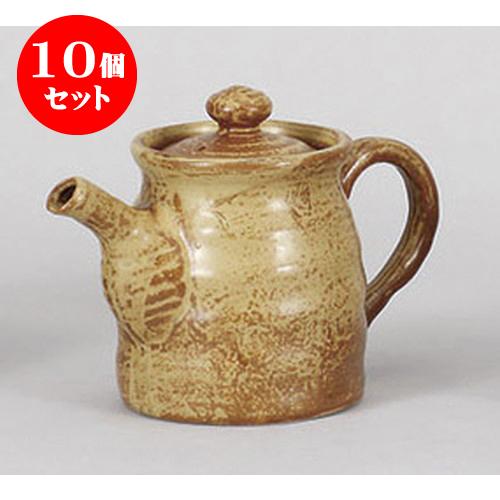 10個セット 調味料入 茶錆汁次 [19 x 9.8 x 12.8cm 550cc] 土物 料亭 旅館 和食器 飲食店 業務用