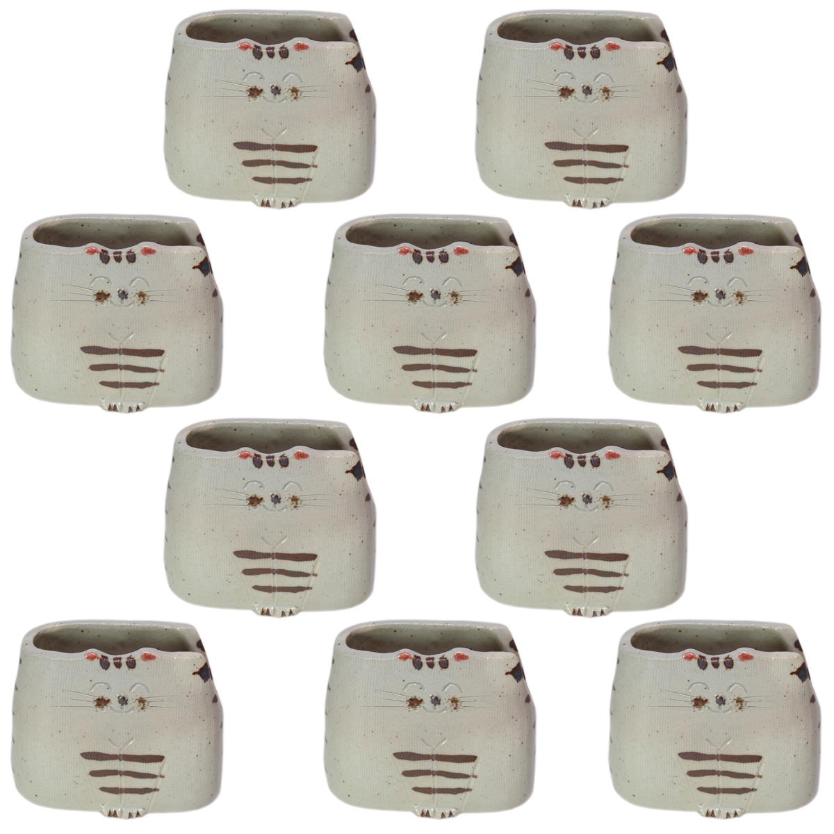 10個セット 卓上小物 蔵猫しゃもじ立 [10 x 6 x 9.5cm] 料亭 旅館 和食器 飲食店 業務用