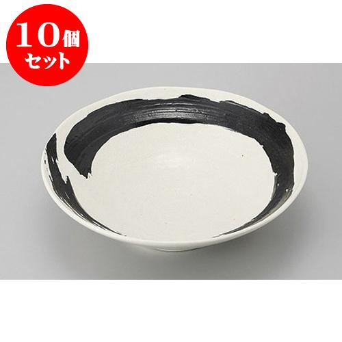 10個セット めん皿・めん鉢 白海流8.0盛鉢 [25 x 7cm] 料亭 旅館 和食器 飲食店 業務用