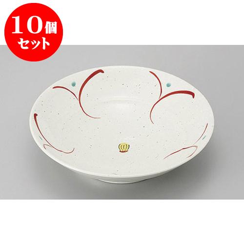 10個セット めん皿・めん鉢 花だより8寸大鉢 [24.8 x 6.3cm] 料亭 旅館 和食器 飲食店 業務用
