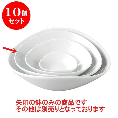 10個セット デリカウェア ルナホワイト楕円鉢(大) [21 x 19.4 x 6.4cm] 輸入品 料亭 旅館 和食器 飲食店 業務用
