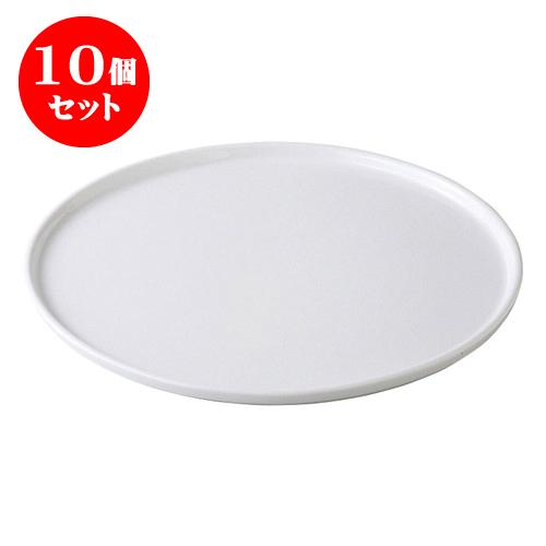 10個セット デリカウェア グランデフラットプレートL [35.3 x 1.3cm] 輸入品 料亭 旅館 和食器 飲食店 業務用