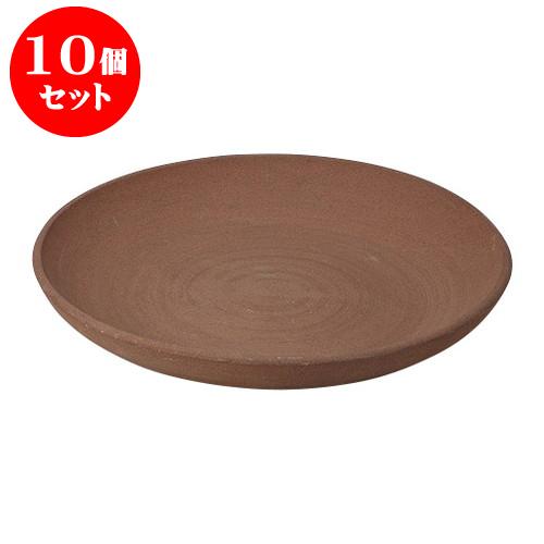 10個セット 陶板 ホーロク8号皿 [24 x 3cm] 土物 直火 料亭 旅館 和食器 飲食店 業務用