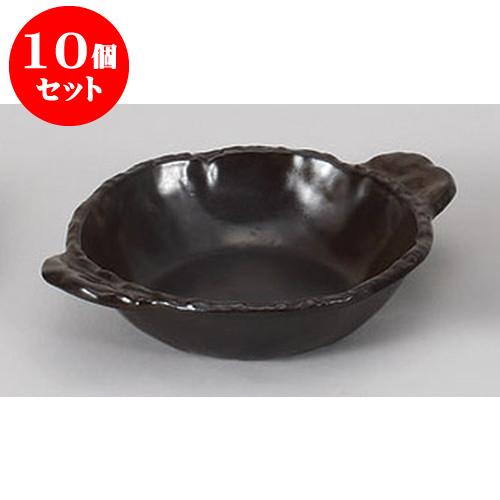10個セット 陶板 灰釉平型鍋陶板 [24.5 x 18.5 x 5cm] 土物 直火 料亭 旅館 和食器 飲食店 業務用