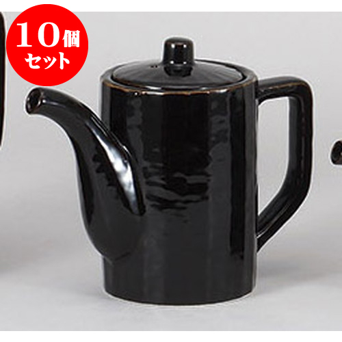 10個セット 鍋小物 黒汁次(中) [8.7 x 12.4cm 500cc] 料亭 旅館 和食器 飲食店 業務用