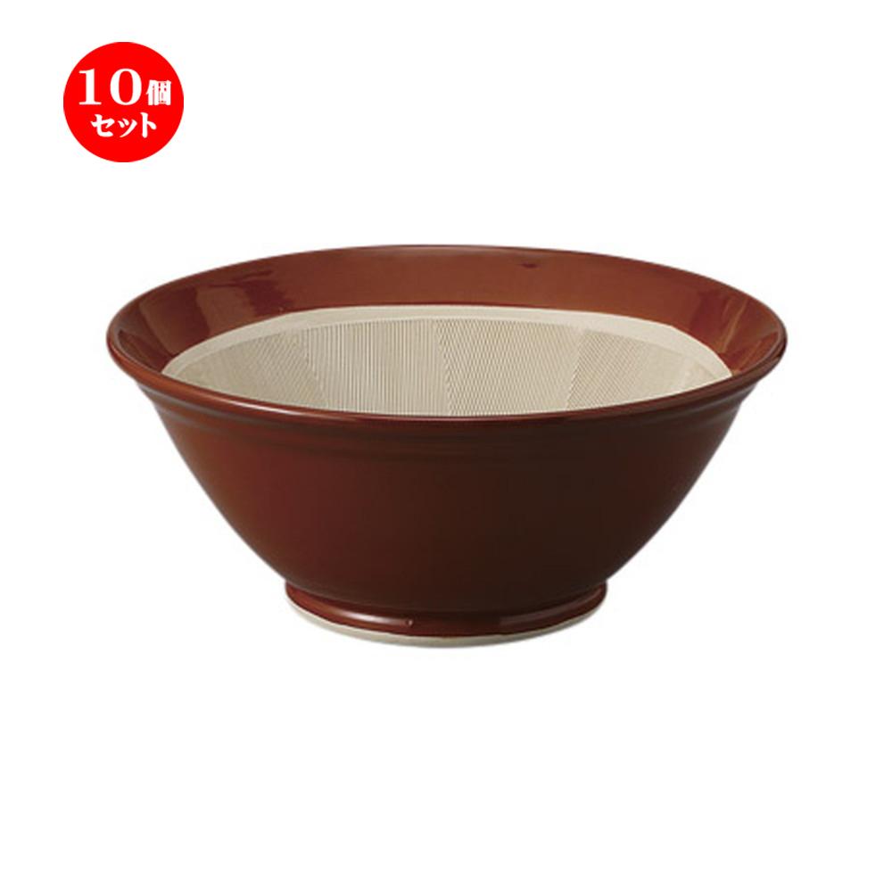 10個セット すり鉢 常滑焼すり鉢13号 [40 x 16cm] 土物 料亭 旅館 和食器 飲食店 業務用