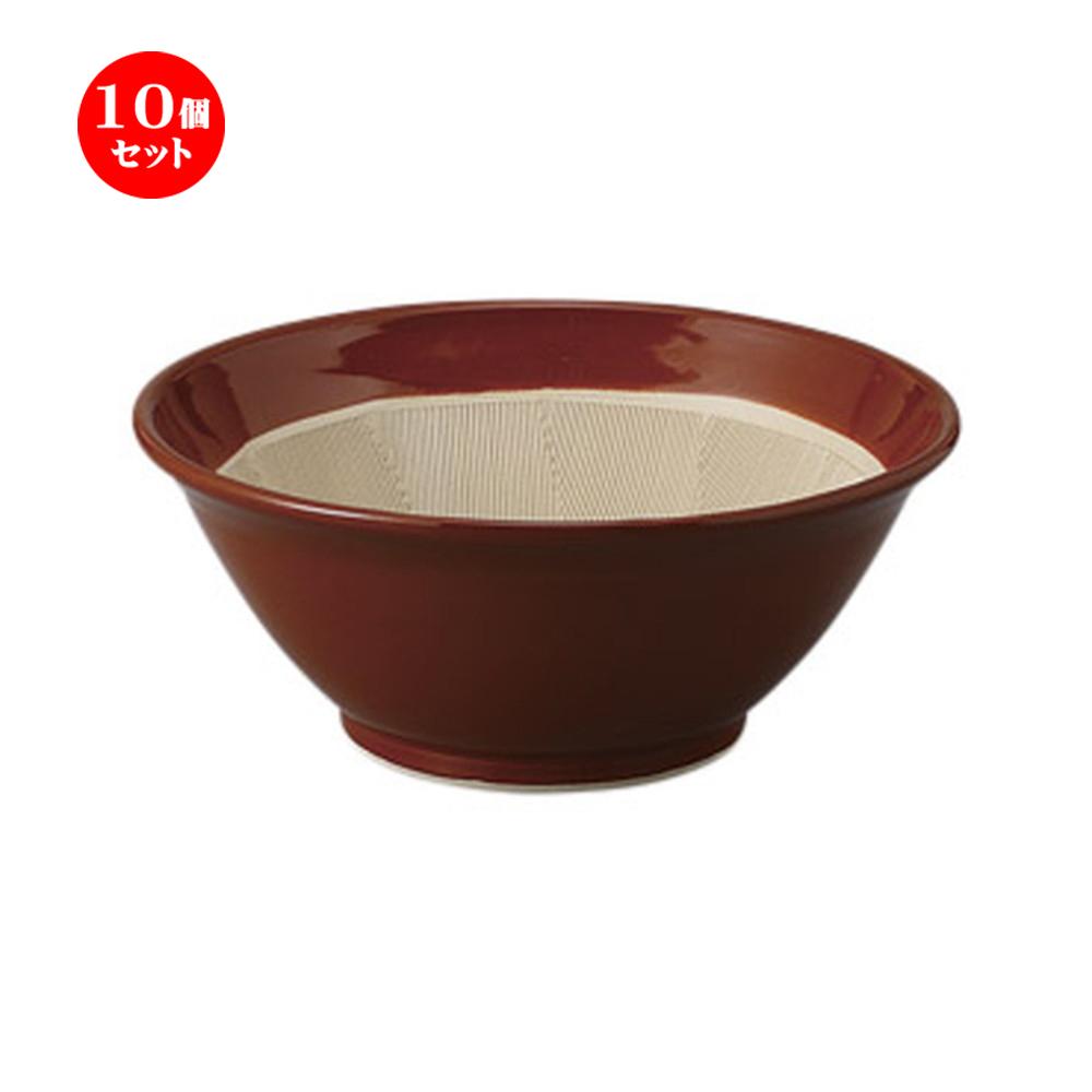 10個セット すり鉢 常滑焼すり鉢6号 [19 x 8cm] 土物 料亭 旅館 和食器 飲食店 業務用