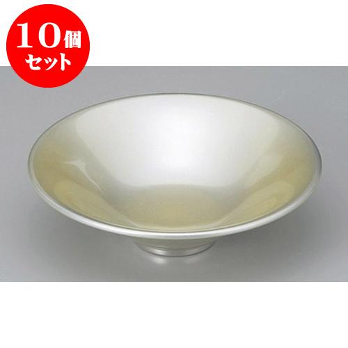 10個セット 木・竹製品 光輝塗(シルバー)一休鉢 [16 x 4.6cm] 塗 料亭 旅館 和食器 飲食店 業務用