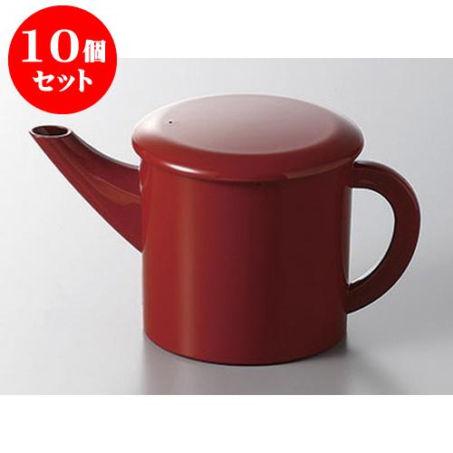 10個セット そば用品 丸ゆとう大 赤 [10.5 x 10.1cm] 料亭 旅館 和食器 飲食店 業務用