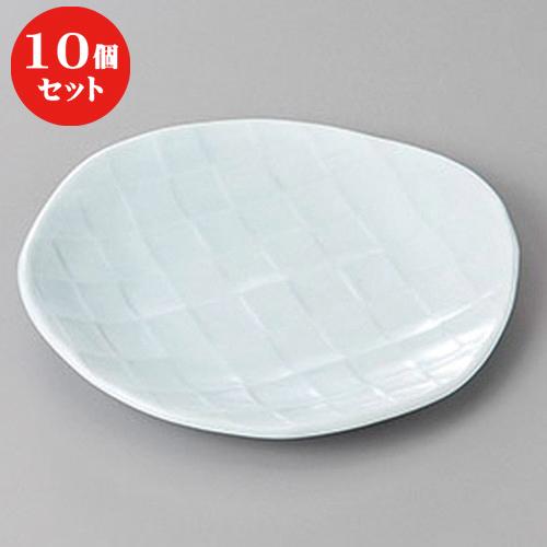 10個セット ☆ 和皿 ☆青磁フルーツ皿 [ 16.3 x 15.1 x 1.8cm ] 【 料亭 旅館 和食器 飲食店 業務用 】