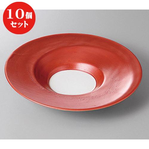 10個セット ☆ 変形盛鉢 ☆パールレッド6.5皿 [ 23.5 x 4.3cm ] 【 料亭 旅館 和食器 飲食店 業務用 】