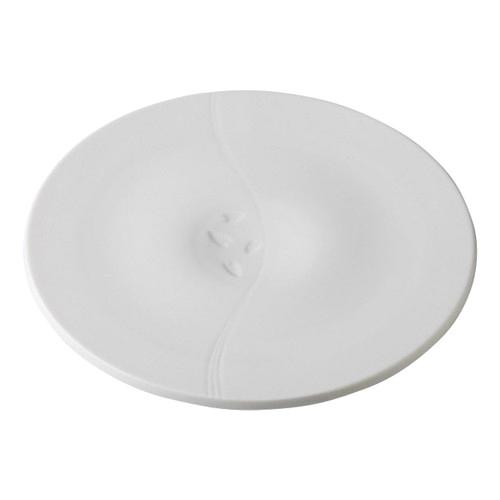 デリカウェア 雪月花 白磁 花くぼみ盛皿 [30.3 x 2.2cm] 料亭 旅館 和食器 飲食店 業務用
