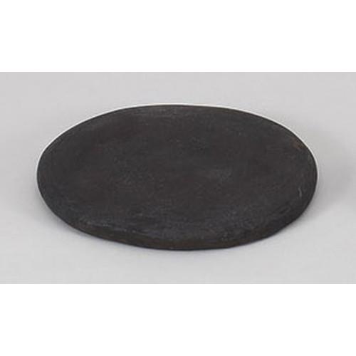 陶板 グルメ焼石黒手造り18cm [18.5 x 3cm] 土物 直火 料亭 旅館 和食器 飲食店 業務用